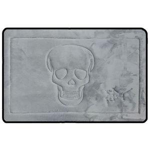 Betsey Johnson ◈ Bath Rug ◈ Gray Skull